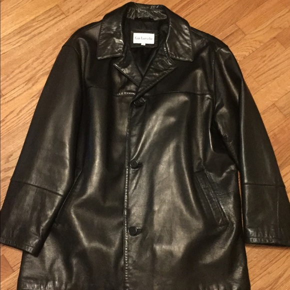 e8678c1f4 Guy Laroche leather coat/ jacket.